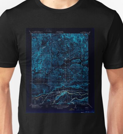USGS TOPO Map California CA Snelling 301524 1918 31680 geo Inverted Unisex T-Shirt