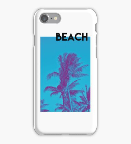 BEACH PALM PHOTOGRAPHY iPhone Case/Skin