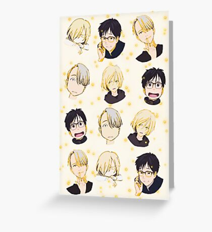 yuri on ice ~chibi Greeting Card