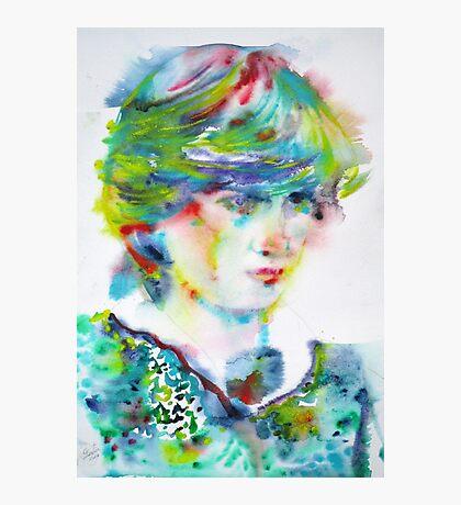 DIANA - PRINCESS of WALES - watercolor portrait.5 Photographic Print