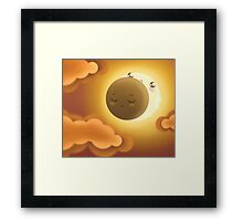 Cute Sky 7- Eclipse Framed Print