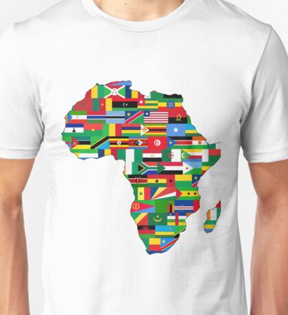 Africa Map With Flags Unisex T-Shirt
