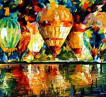 Balloon Show — Buy Now Link - www.etsy.com/listing/209811981 by Leonid  Afremov