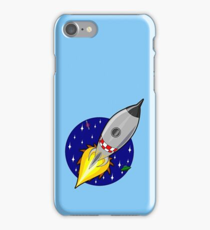 Space ship in galaxy illustration iPhone Case/Skin