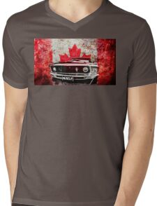 Canadian Muscle Mustang - Graphic version Mens V-Neck T-Shirt