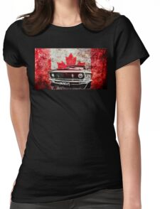 Canadian Muscle Mustang - Graphic version Womens Fitted T-Shirt