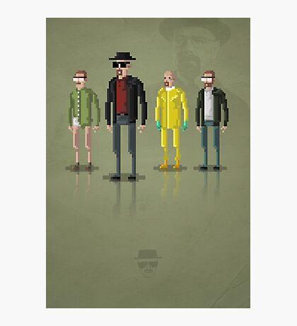 8-Bit TV Breaking Bad Heisenberg Photographic Print