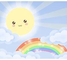 Cute Sky 6- Sunshine & Rainbows Photographic Print