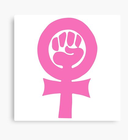 Feminism clenched fist symbol Canvas Print