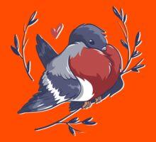 Red Heart Bird Kids Tee