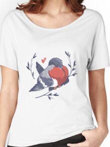 Red Heart Bird Women's Relaxed Fit T-Shirt