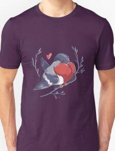 Red Heart Bird T-Shirt