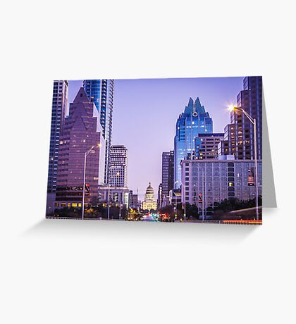 Austin Texas at Sunrise Greeting Card