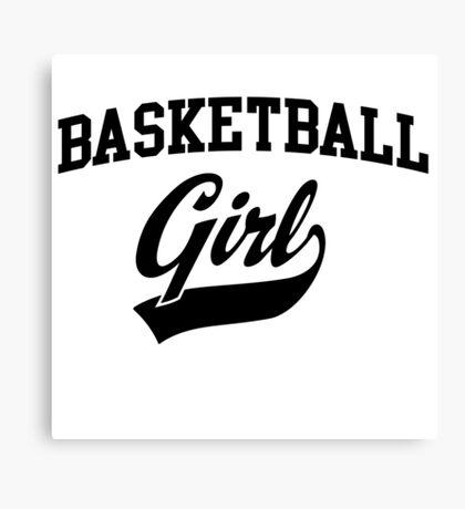 Basketball Girl Canvas Print