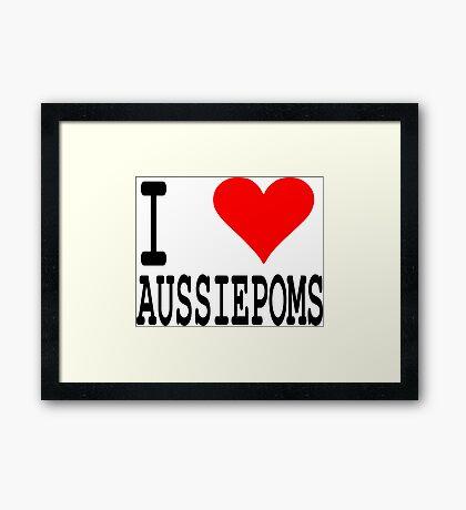 Aussiepom Framed Print
