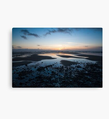 Beach Sunset North Wales Canvas Print