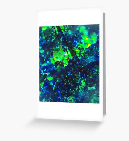 Australian opal  Greeting Card