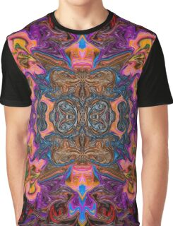 Pink & Purple Fractal Graphic T-Shirt