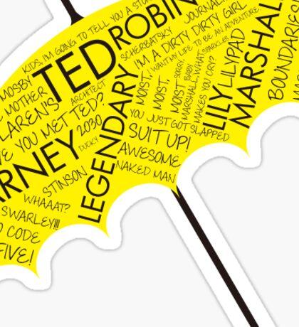 How I Met Your Mother Yellow Umbrella Sticker