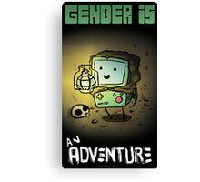 Genderfluid BEEMO Canvas Print