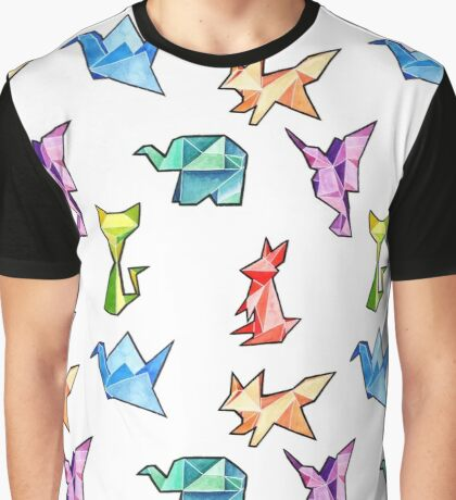 Origami Pattern Graphic T-Shirt