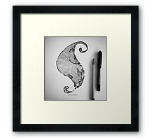 Feather and Cat Framed Print