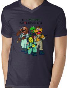 Muppet Ghostbusters Mens V-Neck T-Shirt