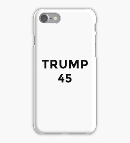 Donald Trump 45th President iPhone Case/Skin