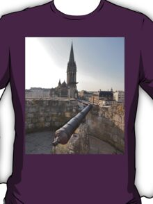 Cannon & Cathedral, Caen, France, Europe 2012 T-Shirt