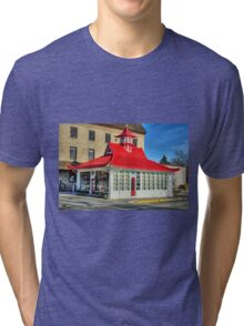 Pagoda Gas Station Tri-blend T-Shirt