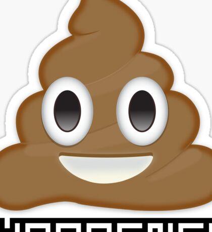 Shit happens emoji poop Sticker