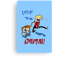 Adventure Time with Calvin and Hobbes Canvas Print