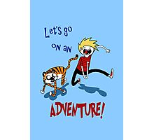 Adventure Time with Calvin and Hobbes Photographic Print