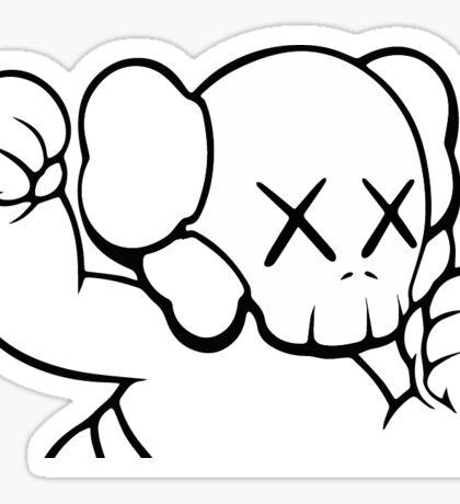 Kaws Fake Draw Sticker