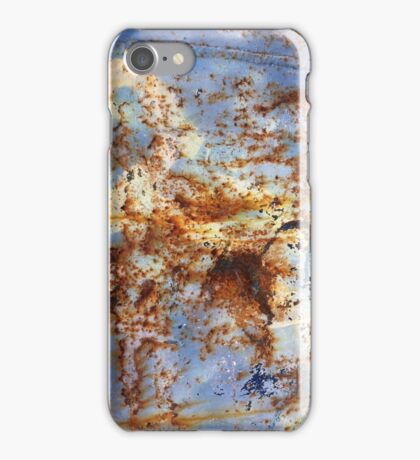 Blue day - Rust on metal iPhone Case/Skin
