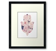 Pastel Rose Hamsa Framed Print
