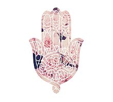 Pastel Rose Hamsa Photographic Print