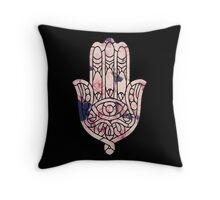 Pastel Rose Hamsa Throw Pillow