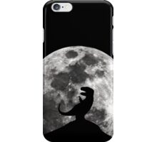 Dinosaur Moon Silhouette - T-Rex iPhone Case/Skin