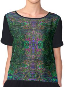 Earth Fractal Chiffon Top