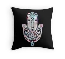 Pastel Crystal Hamsa Throw Pillow