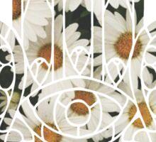 Daisy Hamsa Sticker