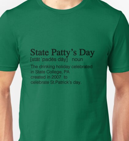 State Patty's Day Definition Unisex T-Shirt