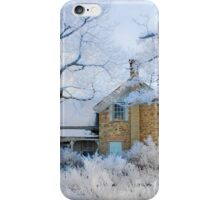 Frost at the Old Farmhouse. iPhone Case/Skin