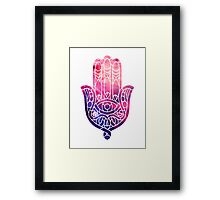 Pink and Purple Hamsa Framed Print