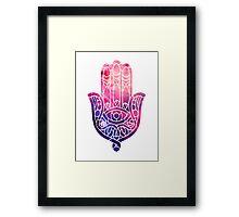 Pink and Purple Hamsa Framed Print