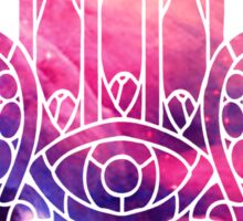 Pink and Purple Hamsa Sticker