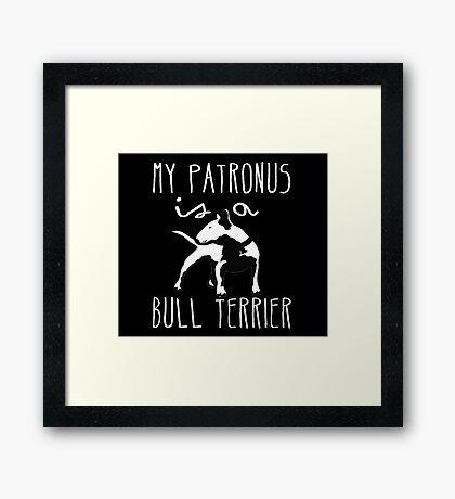 MY PATRONUS IS A BULL TERRIER Framed Print