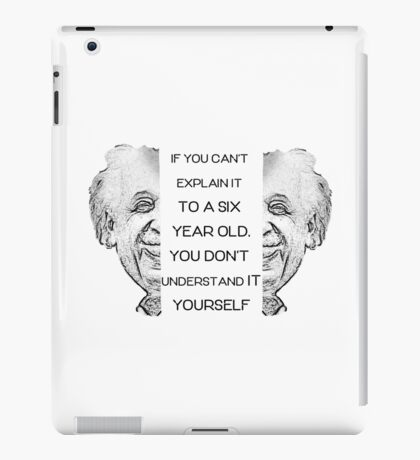 Einstein quote iPad Case/Skin