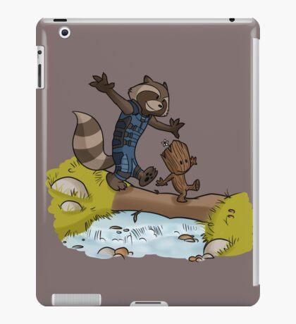 Rocket and Groot iPad Case/Skin